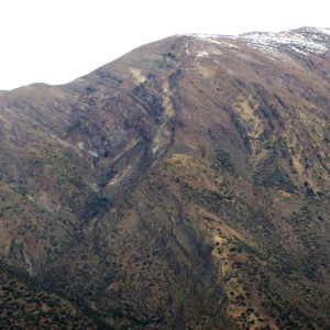 An open fold in the Andes